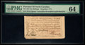 Colonial Notes:North Carolina, North Carolina December, 1771 10s PMG Choice Uncirculated 64.. ...