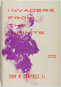 Books:Science Fiction & Fantasy, John W. Campbell, Jr. GNOME PRESS FILE COPY/SIGNED BY GREENBERG.Invaders from the Infinite. New York: Gnome Press, ...