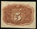 Fractional Currency:Second Issue, Fr. 1232SP 5¢ Second Issue Narrow Margin Back Extremely Fine-About New.. ...