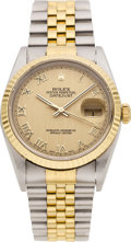 Timepieces:Wristwatch, Rolex Ref. 16233 Gent's Two Tone Datejust, circa 1995. ...