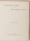 Books:Literature Pre-1900, Mark Twain. A Connecticut Yankee in King Arthur's Court .New York: Charles L. Webster & Company, 1889. First ed...