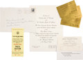 Political:Small Paper (1896-present), John F. Kennedy: Texas Welcome Dinner Grouping....