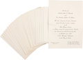 """Political:Small Paper (1896-present), John F. Kennedy: """"Texas Welcome Dinner"""" Invitations...."""