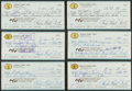 Football Collectibles:Others, Bubba Smith Signed Checks Lot of 10....