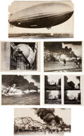 "Transportation:Aviation, Zeppelin ""Hindenburg"" Disaster Photos. ... (Total: 6 Items)"