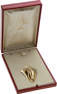 Cartier 18K Gold and Diamond Ladies Home Journal Woman of the Year Award for 1975 Presented<
