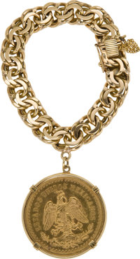 Lady Bird Johnson's 18K Gold Bracelet and a Mexican Gold 50 Peso Coin, Benefiting Lady Bird Johnson Wildflower Center