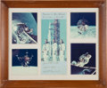 Transportation:Space Exploration, Apollo 9 Crew-Signed Presentation Mat Originally from the PersonalCollection of North American Aviation President William...