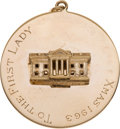 """Political:Presidential Relics, Large 14K Yellow Gold White House Charm Engraved to """"The First Lady"""" December 1963, Benefiting Lady Bird Johnson Wildflower Ce..."""