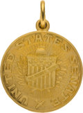 Political:Presidential Relics, Charm with the Seal of the United States Senate in 14K Gold. Benefiting Lady Bird Johnson Wildflower Center....