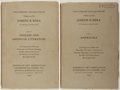 Books:Books about Books, [Book Auction Catalog]. The Library Collected by the Late Joseph B. Shea. New York: American Art Association And... (Total: 2 Items)