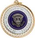 Political:Presidential Relics, Gold Charm with the Seal of the President of the United States Presented to Lady Bird Johnson by the University of Kentucky,...