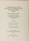 Books:Books about Books, Robert Ernest Cowan. A Bibliography of the History of Californiaand the Pacific West 1510-1906. Columbus, Ohio:...