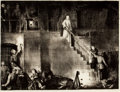 Prints, GEORGE WESLEY BELLOWS (American, 1882-1925). Murder of Edith Cavell, 1918. Lithograph. Image: 18-1/2 x 24-3/4 inches (47...