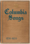 Books:Americana & American History, [Columbia University]. Columbia Songs 1754-1924. New York:Published by the Alumni Federation of Columbia Univer...