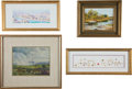 Political:Presidential Relics, Four Framed Pieces Belonging to Lady Bird Johnson,... (Total: 4 Items)