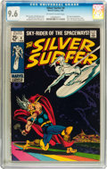 Silver Age (1956-1969):Superhero, The Silver Surfer #4 (Marvel, 1969) CGC NM+ 9.6 Off-white to whitepages....