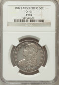 Bust Half Dollars, 1832 50C Large Letters VF30 NGC. O-101. PCGS Population (7/141).(#6161)...