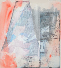 ROBERT RAUSCHENBERG (American, 1925-2008) Untitled, 1986 Solvent transfer and acrylic on silk-covere
