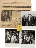 Political:Small Paper (1896-present), John F. Kennedy: Post-Election Trip to Bergstrom Air force Base....