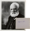 Autographs:Inventors, Alexander Graham Bell: Autograph and Portrait....