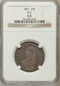 Bust Quarters, 1821 25C Good 6 NGC. B-5. NGC Census: (5/201). PCGS Population(11/267). Mintage: 216,851. Numismedia Wsl. Price for proble...