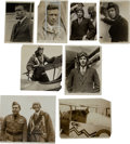 Transportation:Aviation, Charles A. Lindbergh: Eight Press Photos.... (Total: 8 Items)