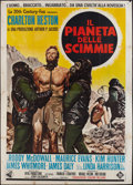 "Movie Posters:Science Fiction, Planet of the Apes (20th Century Fox, 1968). Italian 4 - Foglio(54.5"" X 78""). Science Fiction.. ..."