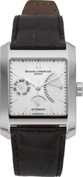 "Timepieces:Wristwatch, Baume & Mercier ""Hampton Square"" Steel Limited Edition Watch 0062/1830. ..."