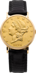 Timepieces:Wristwatch, Piaget $20 Liberty Gold Coin Wristwatch, circa 1975. ...