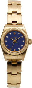 Timepieces:Wristwatch, Rolex Lady's Ref. 67198 Gold Oyster Perpetual, circa 1984. ...