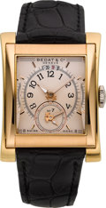 Timepieces:Wristwatch, Bedat Dual Time Zone Ref. 787 Tri-Color Gold Gent's Automatic. ...