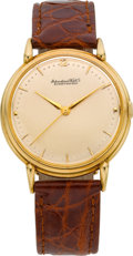 Timepieces:Wristwatch, International Watch Co. 18k Gold Center Seconds Wristwatch, circa 1950's. ...