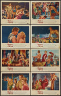 "Movie Posters:Adventure, Helen of Troy (Warner Brothers, 1956). Lobby Card Set of 8 (11"" X14""). Adventure.. ... (Total: 8 Items)"