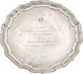 Political:Presidential Relics, Pewter Salver Presented to Lady Bird Johnson, Benefiting Lady Bird Johnson Wildflower Center....