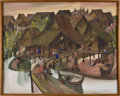 Political:Presidential Relics, Painting of Thai Village Life by Sombut, Benefiting Lady Bird Johnson Wildflower Center....