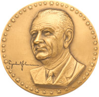 Bronze Medallion Commemorating President Lyndon Johnson's Asian-Pacific Visit, 1966, Benefiting Lady Bird Johnson Wildfl...