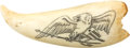 Political:Presidential Relics, Ivory Whale's Tooth with Scrimshaw American Eagle, Benefiting Lady Bird Johnson Wildflower Center....