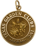 Political:Presidential Relics, Gold Charm Presented to Lady Bird Johnson from Texas Garden Clubs, Benefiting Lady Bird Johnson Wildflower Center....