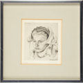 """Political:Presidential Relics, Etching, """"Florine"""", by Andre Jacques...."""