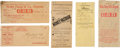 Western Expansion:Cowboy, Wells, Fargo & Company Express: Lot of Five Transmittal Covers,Circa 1860-1910....