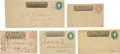 Western Expansion:Cowboy, Wells, Fargo & Company: Lot of Four Transmittal Envelopes andOne Truman & Company Express Transmittal Envelope, Circa1860s....