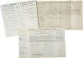 Western Expansion:Cowboy, Lot of Four Nineteenth-Century California Way Bills.... (Total: 4Items)