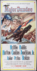"""Movie Posters:Western, Major Dundee (Columbia, 1965). Three Sheet (41"""" X 78"""" after joining the two pieces). Western.. ..."""