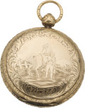 Political:3D & Other Display (pre-1896), George Washington: Commemorative Engraved Pocket Watch....