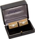 Political:Presidential Relics, Lyndon Johnson's Diamond and Gold Longhorn Cufflinks, Benefiting Lady Bird Johnson Wildflower Center....