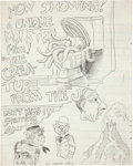 "Original Comic Art:Sketches, Robert Crumb ""Creature From the John"" Sketchbook Page Original Art (1962)...."