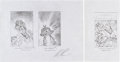 Original Comic Art:Miscellaneous, Alex Ross The Overstreet Comic Book Price Guide #29Unused Cover Pencil Sketch Study (Jack Kirby Cover... (Total: 2Items)