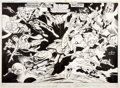 Original Comic Art:Splash Pages, Joe Staton and Bob Smith Legion of Super-Heroes #280Double-Page Pin-Up Original Art (DC, 1981)....