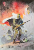 Original Comic Art:Miscellaneous, Frank Frazetta Final Blackout Cover Preliminary Original Art(c. 1991)....
